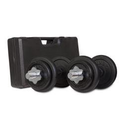 Lifespan Fitness 20kg Dumbbell Set with Case